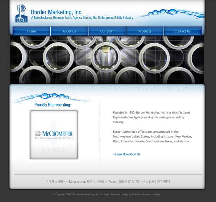 Border Marketing Website